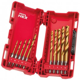 Milwaukee M.Drill SWave HSS-G Ti. 10pc Set