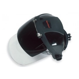 Dual Face Shield Helmet for Slotted Hard Hat, Shade 6 (for <60A)