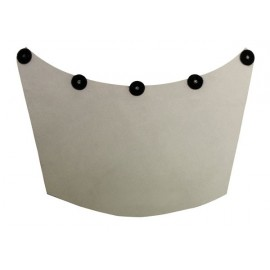 Leather Neck Guard for Dual Face Shield