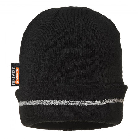 Reflective Trim Knit Hat Insulatex Lined