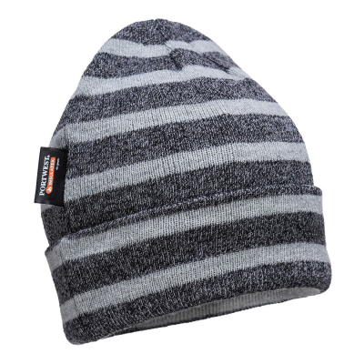 Striped Insulated Knit Cap