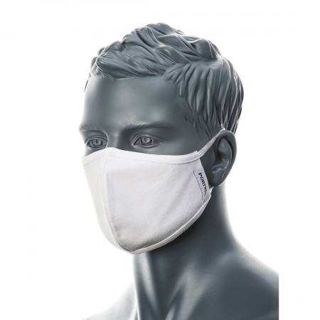 2-Ply Anti-Microbial Fabric Face Mask (Pk25)
