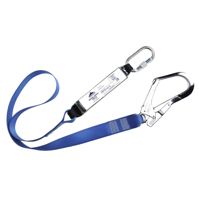 Single Webbing Lanyard With Shock Absorber