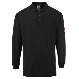 Flame Resistant Anti-Static Long Sleeve Polo Shirt