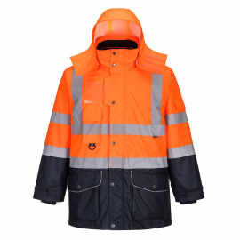 Hi-Vis 7-in-1 Contrast Traffic Jacket
