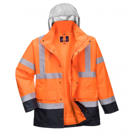 Hi-Vis 4-in-1 Contrast Traffic Jacket