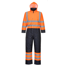 Hi-Vis Contrast Coverall - Lined