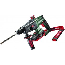 METABO KHA18LTX 18v3 function hammer - SDS plus 2 x 3.1Ah LiHD batteries Variable / reversing Max in concrete: 24mm Carry case
