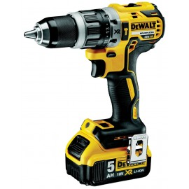 DEWALT DCD796P2 18vCombi drill - 13mm keyless chuck 2 x 5.0Ah Li-ion batteries and charger 2 - speed / variable / reversing Max torque: 70Nm Brushless motor Carry case