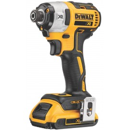 """DEWALT DCF887P2 18vImpact driver - 1/4"""" hex drive 2 x 5.0Ah Li-ion batteries and charger Variable / reversing Max torque: 205Nm Brushless motor T-Stak DWST1-70703 case"""