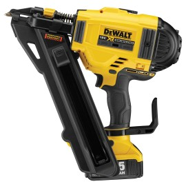 DEWALT DCN694P2 18vPositive placement nailer 2 x 5.0Ah Li-ion batteries and charger 2 - speed Max nail size: 60mm Brushless motor Battery level and stall indicator Carry case