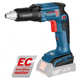 """BOSCH GSR 18 V-EC TE BODY 18vDry wall screwdriver - 1/4"""" hex drive Body only - No battery, charger or case No load speed: 0 - 4200rpm Max torque (hard/soft): 25/5 Nm Brushless motor"""