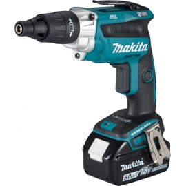"""MAKITA DFS251RTJ 18vTEK screwdriver - 1/4"""" hex drive 2 x 5.0Ah Li-ion batteries and charger No load speed: 0 - 2500rpm MakPac type 2 case"""