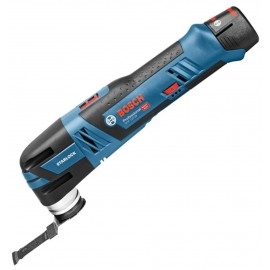 BOSCH GOP 12 V-28 12vMulti function tool 2 x 2.5Ah Li-ion batteries and charger Variable speed Includes 12 accessories Brushless motor L-Boxx 136 case