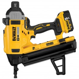 DEWALT DCN890P2 18vConcrete nailer 2 x 5.0Ah Li-ion batteries and charger 3 speed settings Nail size: 13 - 57mm Brushless motor Battery level and stall indicator Carry case