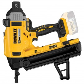 DEWALT DCN890N 18vConcrete nailer Body only - No battery, charger or case 3 speed settings Nail size: 13 - 57mm Brushless motor Battery level and stall indicator