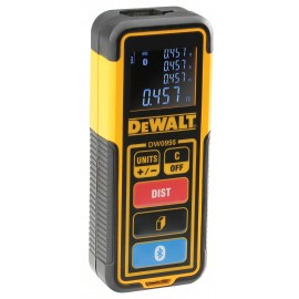 DEWALT DW099S AAA batteriesLaser range finder 2 x AAA batteries Range: 30m Bluetooth enabled connection