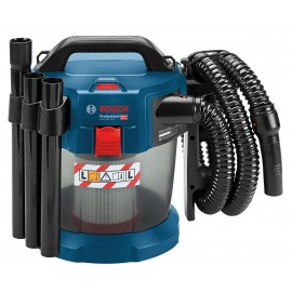BOSCH GAS 18 V-10 L 18vL class dust extractor Body only - No battery, charger or case Capacity: 0.7 litres Accessories kit