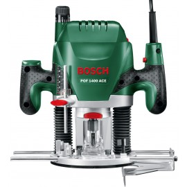 "BOSCH GREEN POF-1400-ACE 240vPlunge router - 1/4"" collet 1400 Watt Variable speed Plunge depth: 55mm"