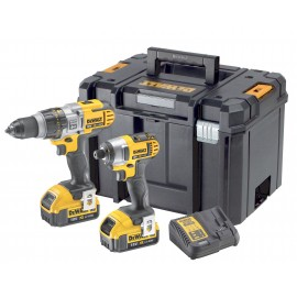 DEWALT DCK290M2T 18vTwin pack 2 x 4.0Ah Li-ion batteries and charger DCD985 Combi drill DCF885 Impact driver T-Stak DWST1-70703 case