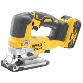 DEWALT DCS334P2 18vJigsaw - top handle 2 x 5.0Ah Li-ion batteries and charger Variable speed Brushless motor T-Stak case