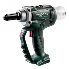 METABO NP18LTX B/L BODY 18vRivet gun Body only - No battery or charger Max rivet in aluminium: 6mm Max rivet in all materials: 2.4-5mm Carry case