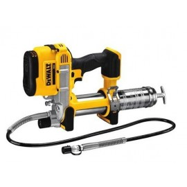 DEWALT DCGG571KN 18vGrease gun Body only - No battery or charger Pressure: 590 Bar / 10000 Psi 1 metre hose Accepts clear grease tubes Adjustable LED light Carry case