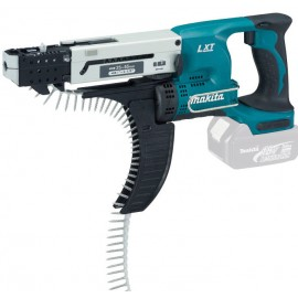 MAKITA DFR550Z 18vAutofeed screwdriver - 5mm hex drive Body only - No battery, charger or case Reversing Max screw length: 55mm