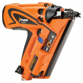 PASLODE IM360Ci GasFirst fix nailer Power: 105J Shots per charge: Up to 7500 Nail range: 50-90mm Fuel cell life: 1250 shots Weight: 3.8kg