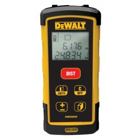 DEWALT DW03050 AAA batteriesLaser range finder 2 x AAA batteries Range: 50m Pythagoras indirect height function Batteries included