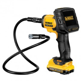 DEWALT DCT410D1 12vInspection camera 1 x 2.0Ah Li-ion battery and charger Camera: 17mm - cable length: 900mm Display size: 88mm Photo & video function Carry case