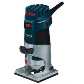"BOSCH GKF 600 110vRouter / Trimmer - 1/4"" collet 600 Watt Single speed Plunge depth: 55mm Carry case"
