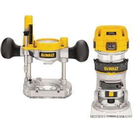"DEWALT D26204K 240vPlunge router - 1/4"" collet 900 Watt Variable speed Plunge depth: 55mm Removable motor & housing Carry case"