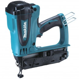 MAKITA GF600SE GasSecond fix nailer 2 x 1.0Ah Li-ion batteries and charger Single speed Nail size 15-64mm Anti dry fire Magazine capacity: 100 nails