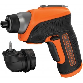 """BLACK & DECKER CS3652LC 3.6vScrewdriver - 1/4"""" hex drive 1 x li-ion battery and charger built in Single speed Max torque: 5Nm Right angle attachment"""