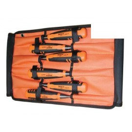 Bahco 424PS6ROL 424-P Bevel Edge Chisel Set in Roll, 6 Piece