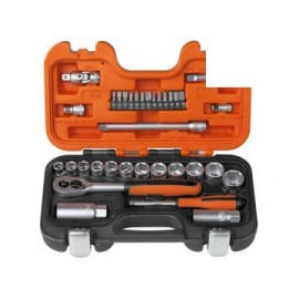 Bahco S330 S330 Socket Set of 34 Metric 3/8in Drive + 1/4in Accessories