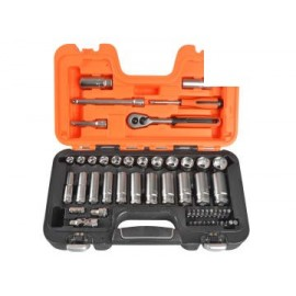 Bahco S330L S330L Socket Set of 53 Metric 3/8in Deep Drive + 1/4in Accessories