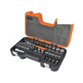 Bahco S530T S530T Pass-Through Socket Set of 53 Metric 1/2in Drive