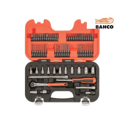 Bahco SL65 SL65 Slim Socket Set of 65 Metric 1/4in Drive