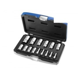 Britool E031804B Deep Socket Set of 15 Metric 3/8in Drive