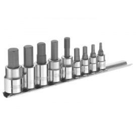 Britool E034802B Hex Bit Socket Set of 9 1/4 & 3/8in Drive