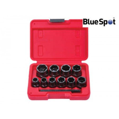 Bluespot 1539 Bolt Remover Set 9-19mm  10 Piece