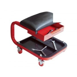 Faithfull AUSEAT Seat On Wheels C/W Tray & Drawer