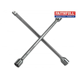 Faithfull AUWB4WC 4-Way Wheel Brace Chrome Plated 14in