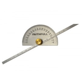 Faithfull GAUGEDEPT Depth Gauge with Protractor 150mm (6in)