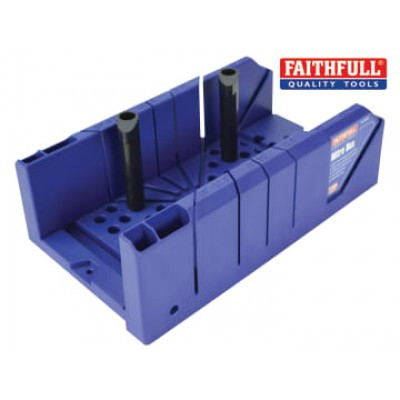 Faithfull MBP Plastic Mitre Box with Pegs 310mm (12.1/4in)