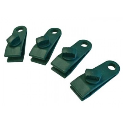 Faithfull TARPCLIPS Tarpaulin Clips - Set of 4