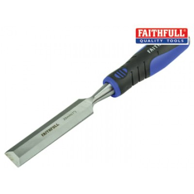 Faithfull WCSG25 Soft Grip Bevel Edge Chisel 25mm (1in)