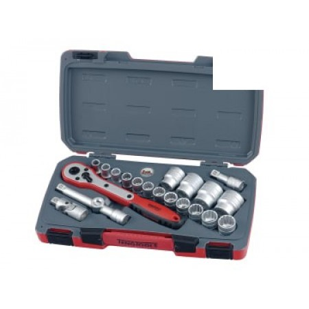 Teng T1221 T1221 Socket Set of 21 Metric 1/2in Drive